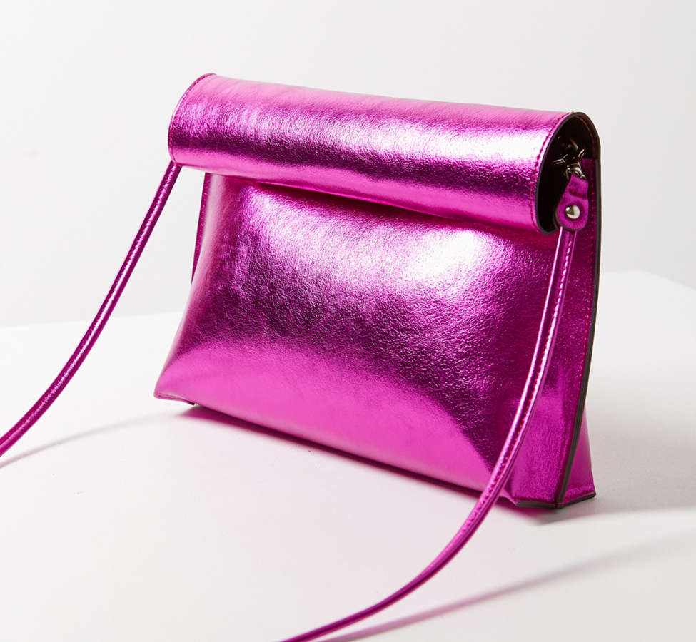 Slide View: 4: Silence + Noise Roll Clutch Crossbody Bag