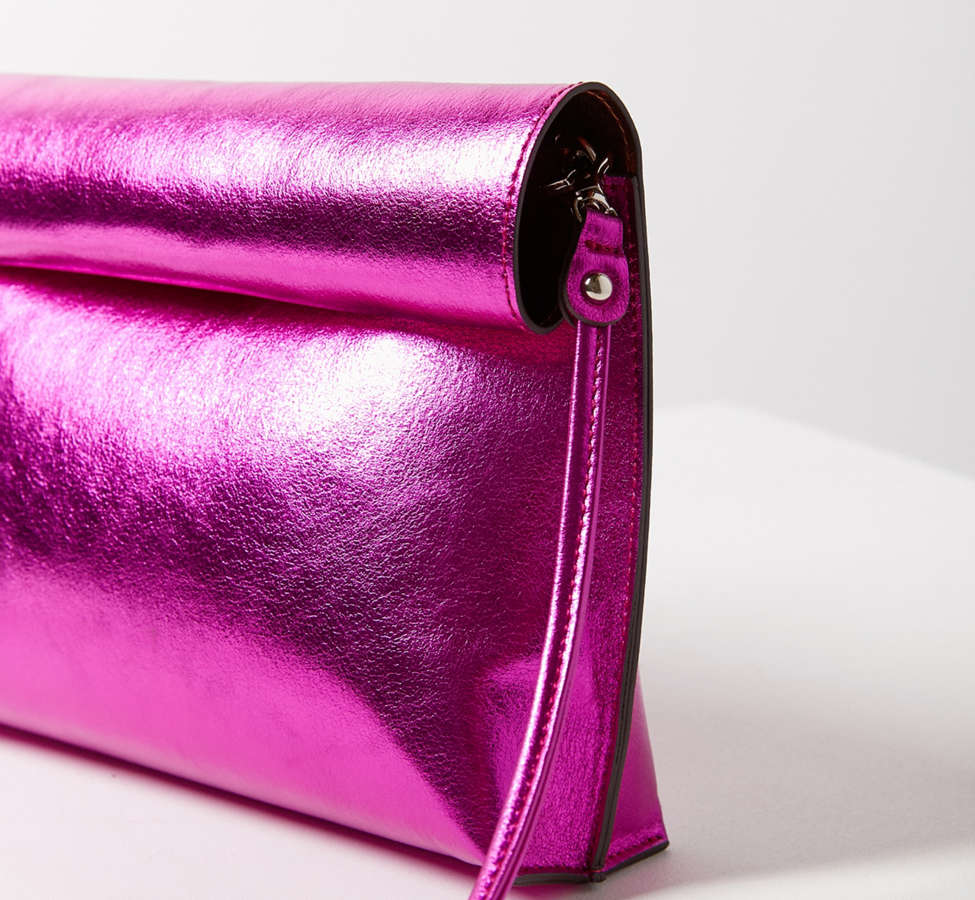 Slide View: 5: Silence + Noise Roll Clutch Crossbody Bag