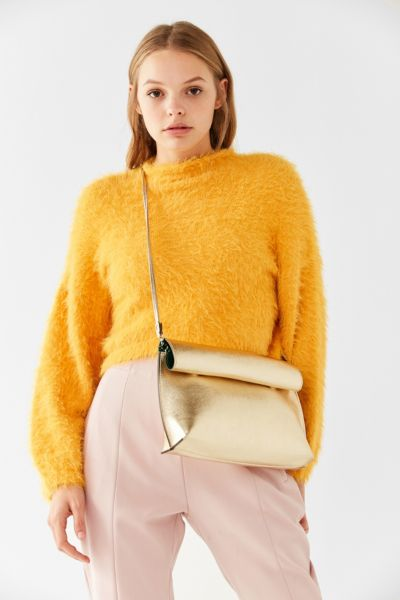 Silence + Noise Roll Clutch Crossbody Bag - Gold One Size at Urban Outfitters