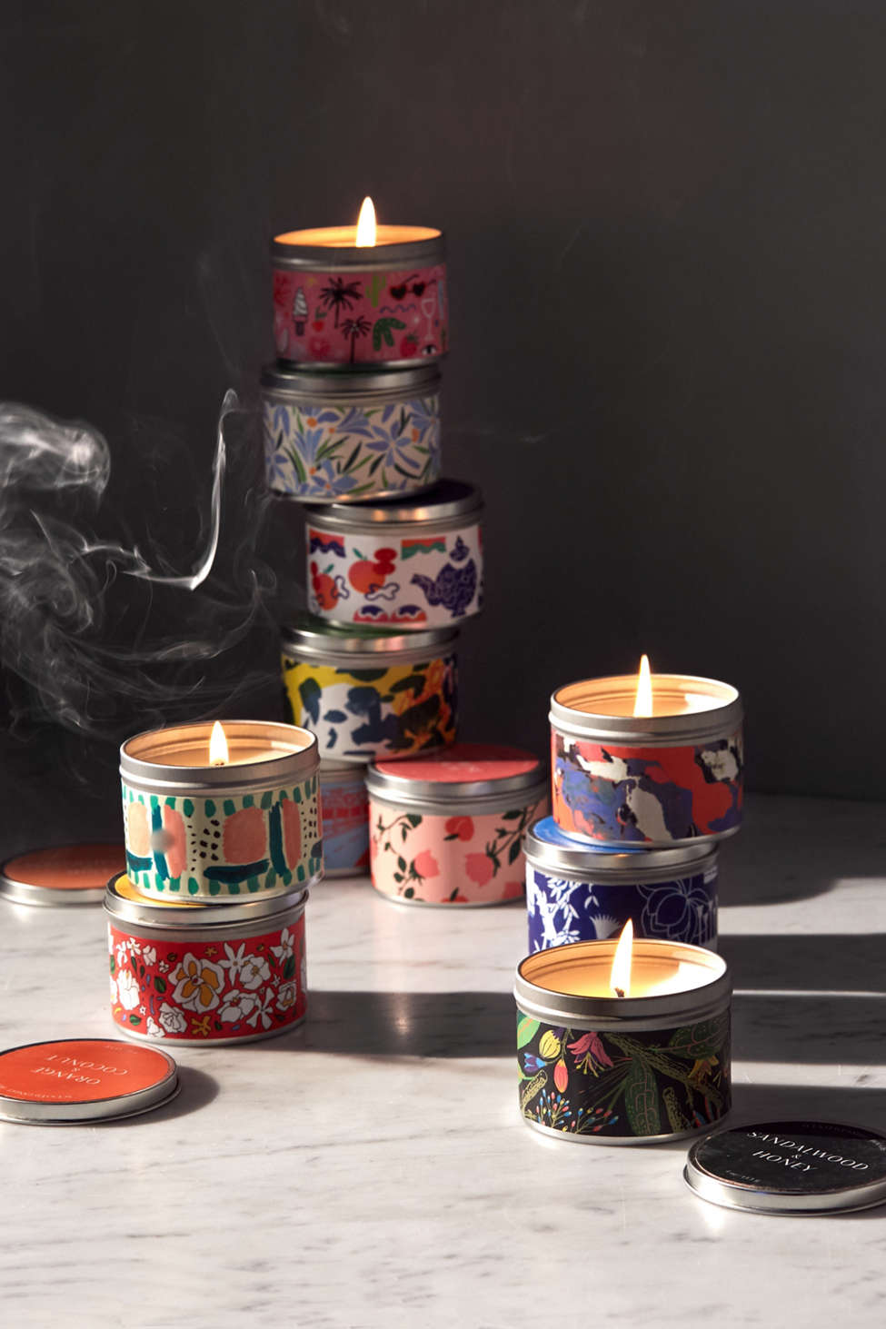 Slide View: 1: Artist Print Tin Candle