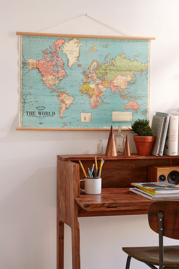 Hanging world map art print urban outfitters gumiabroncs Images