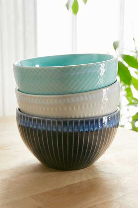 Embossed Ceramic Bowl