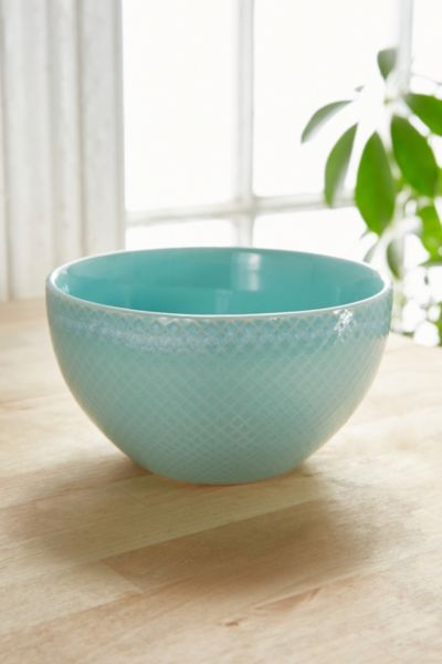 Embossed Ceramic Bowl - Mint One Size at Urban Outfitters