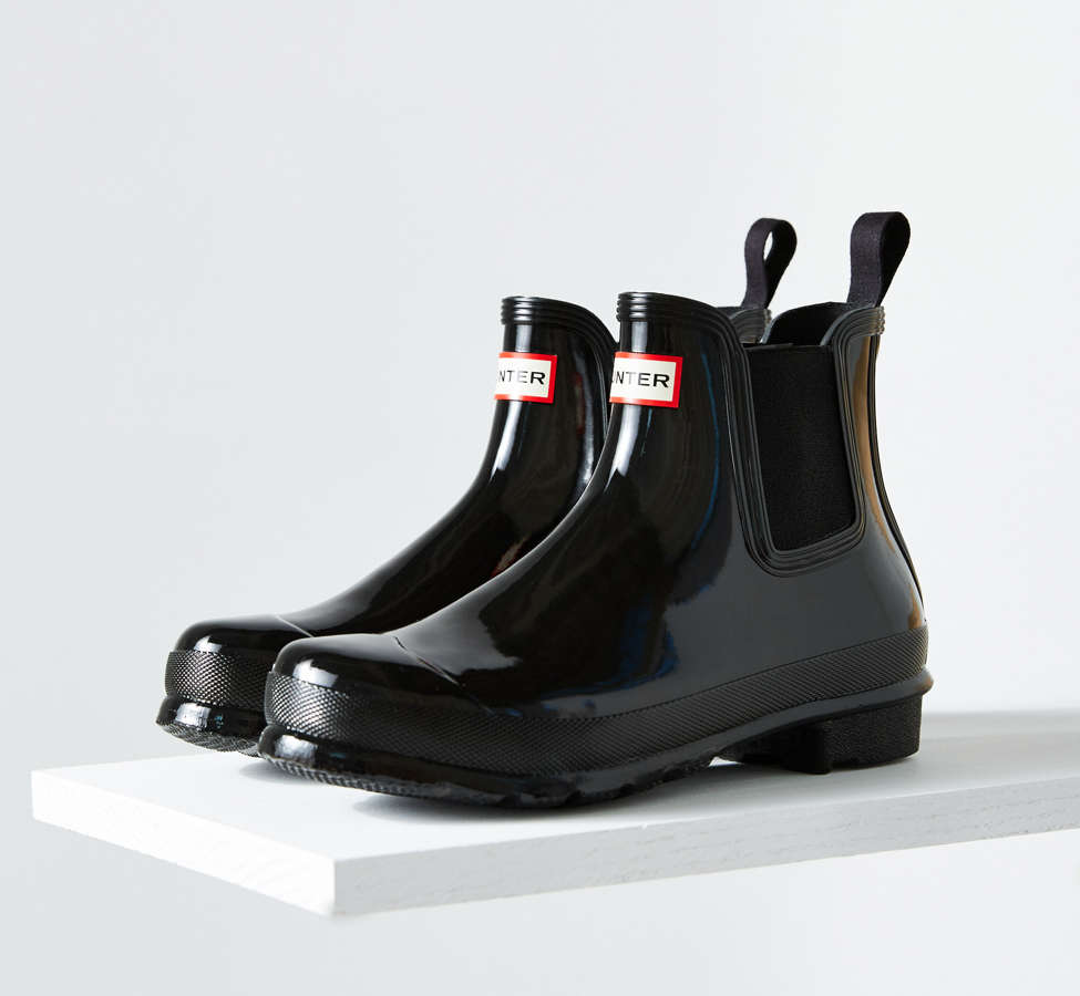 Slide View: 1: Hunter Original Chelsea Glossy Rain Boot