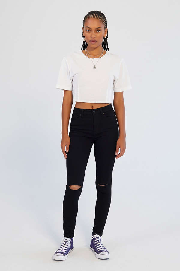 BDG Twig Ripped High-Rise Skinny Jean - Black