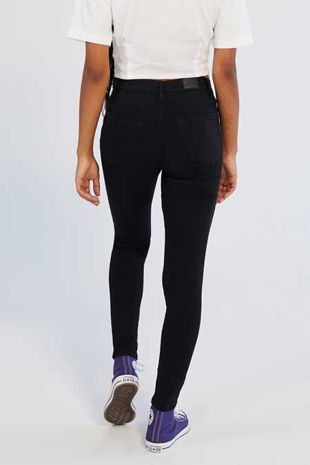 Slide View: 2: BDG Twig Ripped High-Rise Skinny Jean - Black
