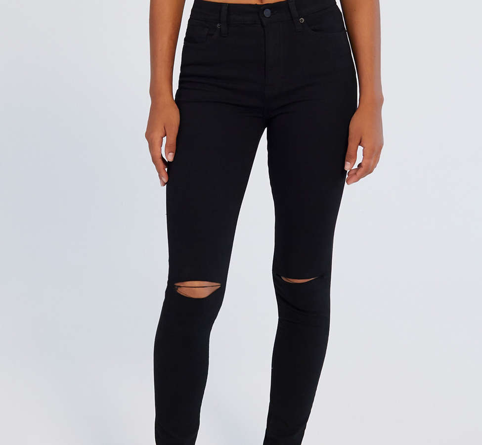 Slide View: 3: BDG Twig Ripped High-Rise Skinny Jean - Black