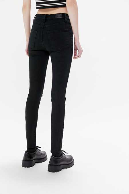 Slide View: 4: BDG Twig Ripped High-Rise Skinny Jean - Black