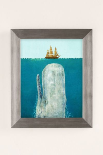 Terry Fan The Whale Art Print - Silver One Size at Urban Outfitters