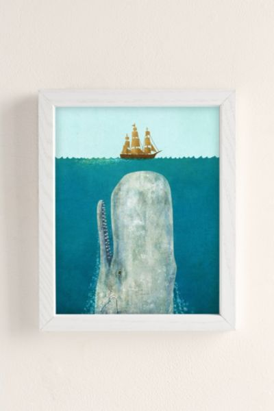 Terry Fan The Whale Art Print - White One Size at Urban Outfitters