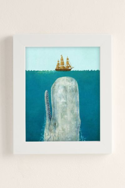 Terry Fan The Whale Art Print - Pearl One Size at Urban Outfitters