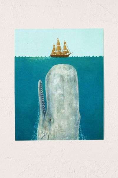 Terry Fan The Whale Art Print - Multi One Size at Urban Outfitters