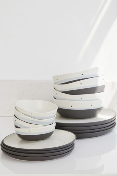 16 Piece Speckle Stoneware Dinnerware Set Urban Outfitters
