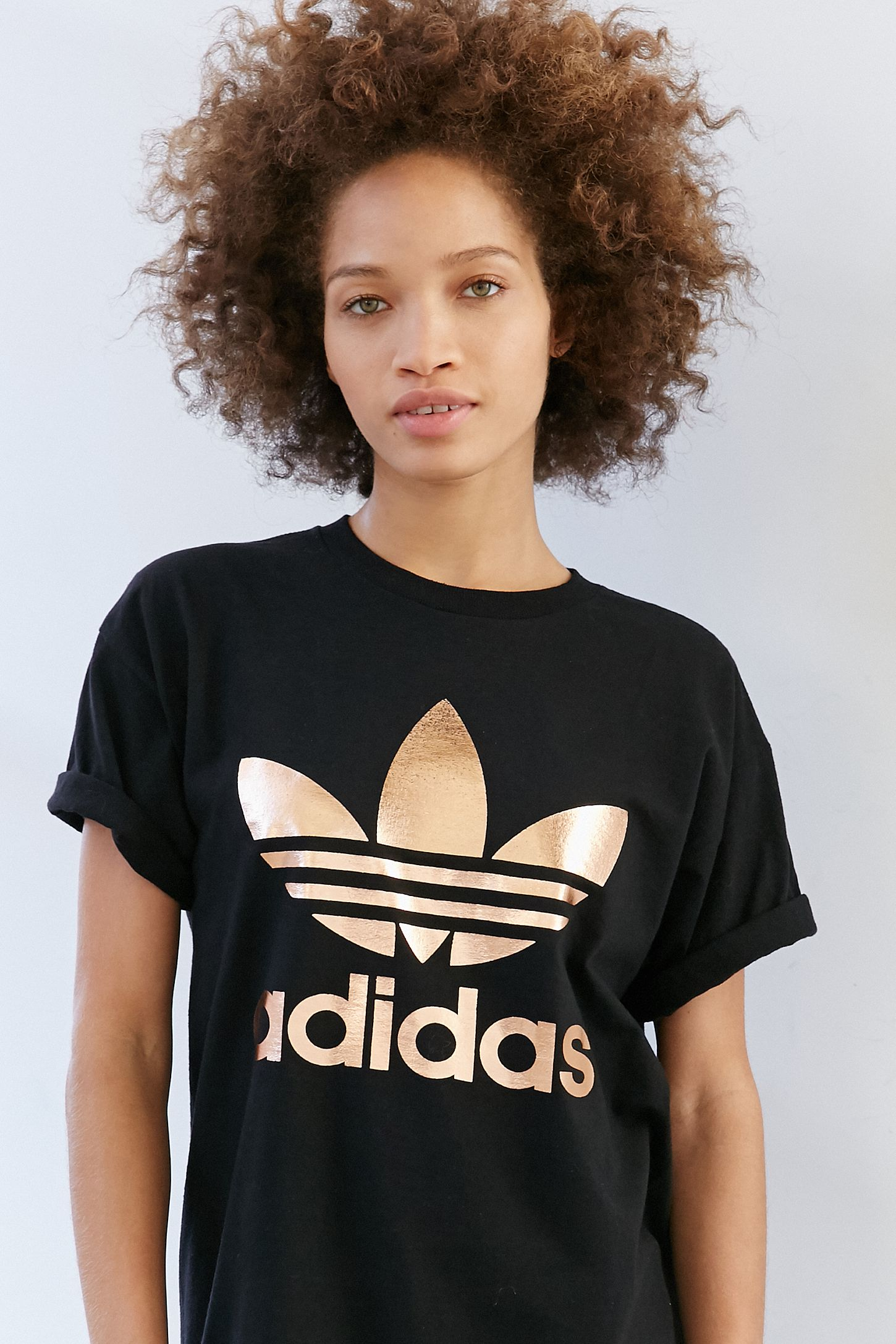Urban Adidas Outfitters Originals Tee Rose Gold Logo Double xvUaxSw