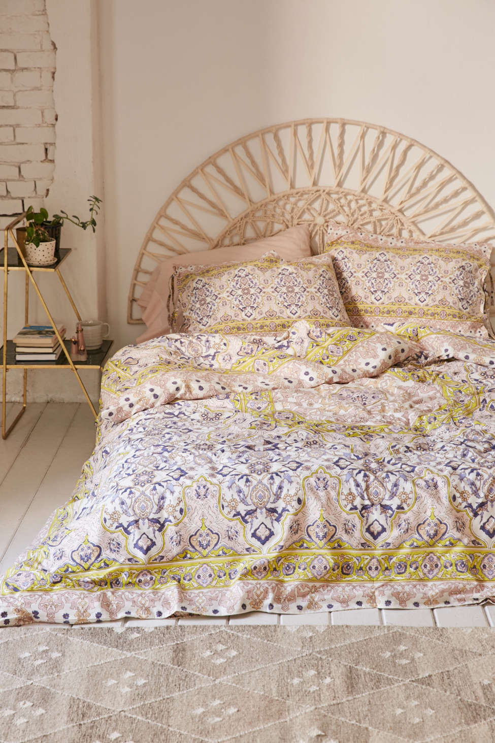 Slide View: 1: Plum & Bow Anza Tiled Duvet Cover