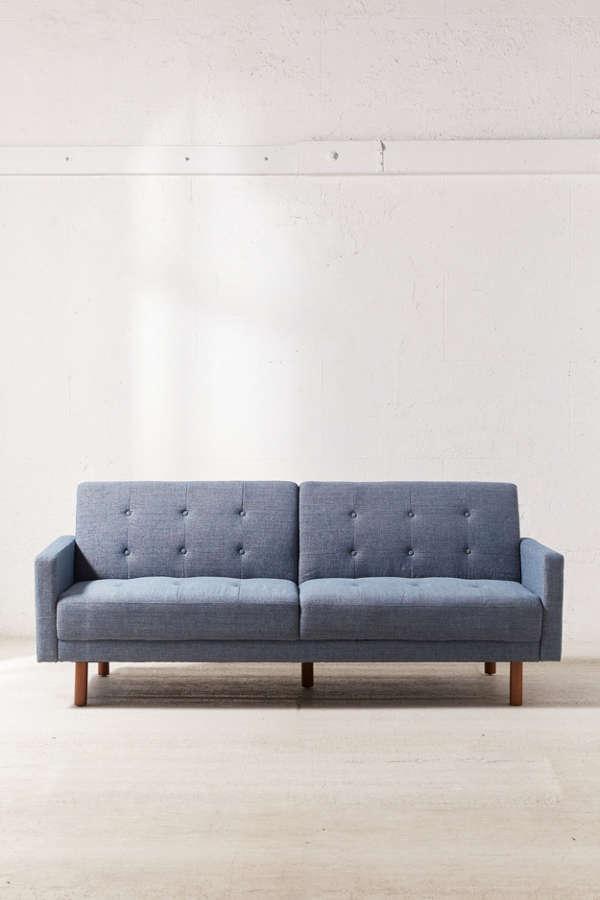 Slide View: 2: Berwick Mid-Century Sleeper Sofa