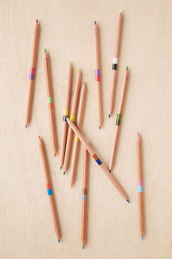 slide view 1 double ended coloring pencils set