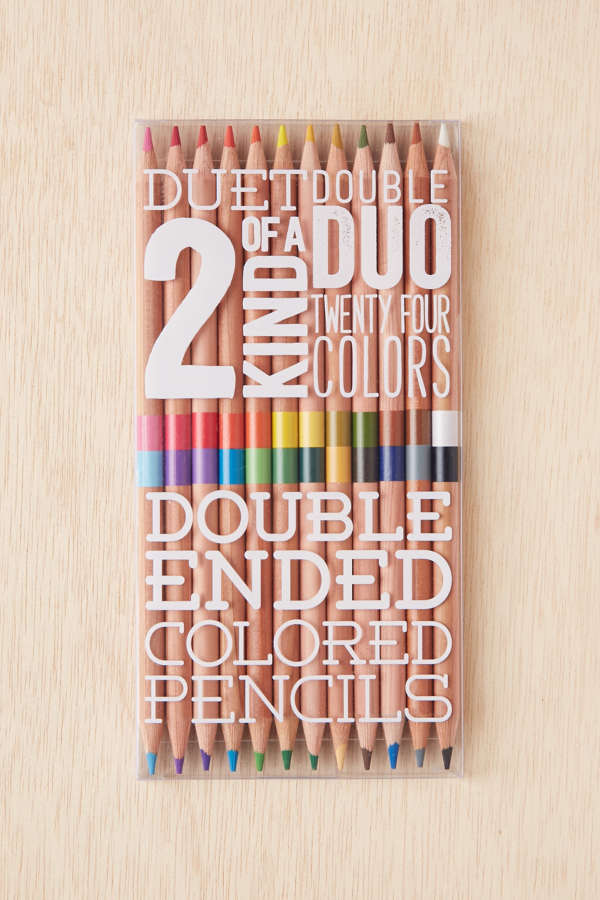 slide view 2 double ended coloring pencils set