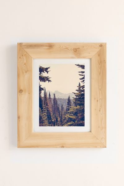 Urban Outfitters Kurt Rahn Mountains Through The Trees Art Print In Pine