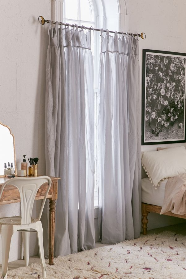 Slide View: 1: Plum & Bow Gathered Voile Curtain