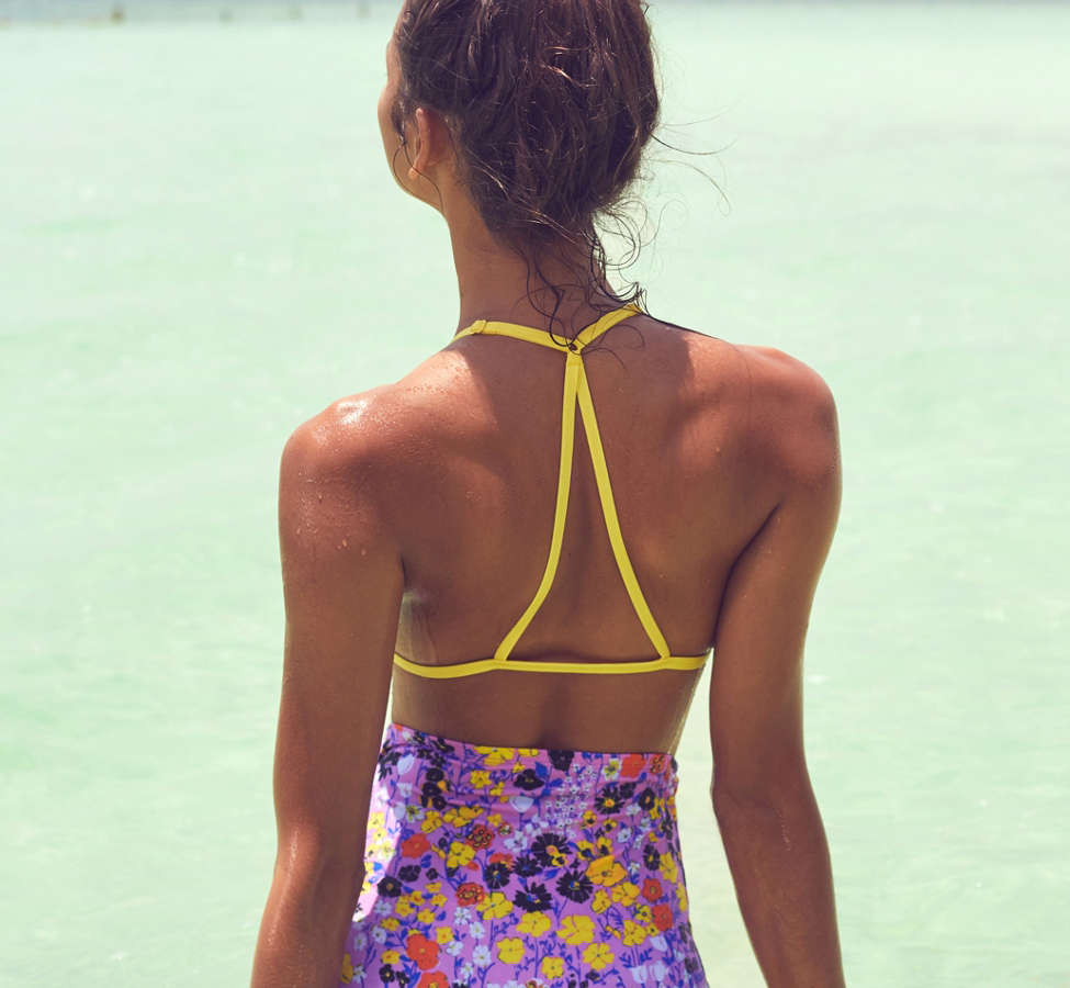 Slide View: 4: Out From Under Printed Flat High-Waisted Bikini Bottom