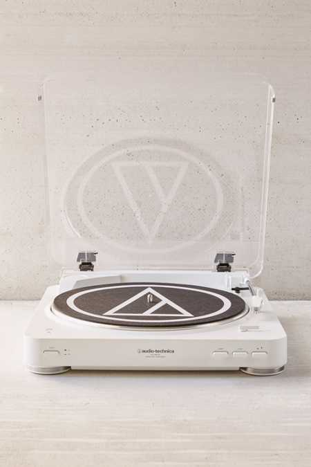 Audio-Technica White AT-LP60 Bluetooth Record Player