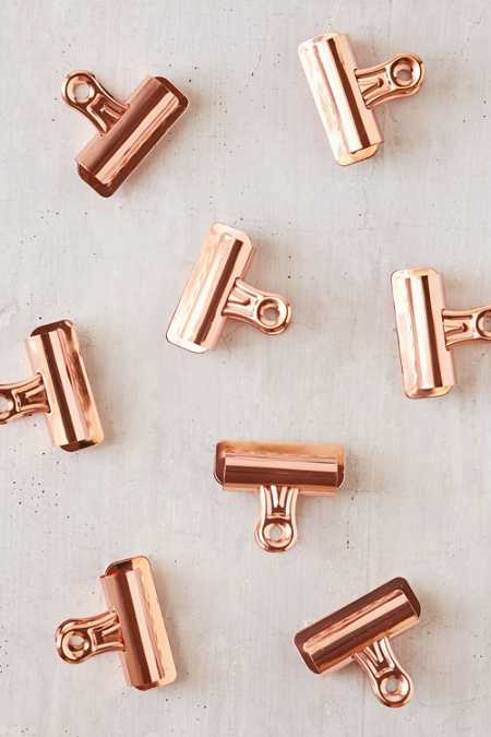 Slide View: 1: Copper Bulldog Clips Set