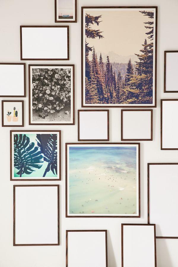 walnut wood art print frame urban outfitters