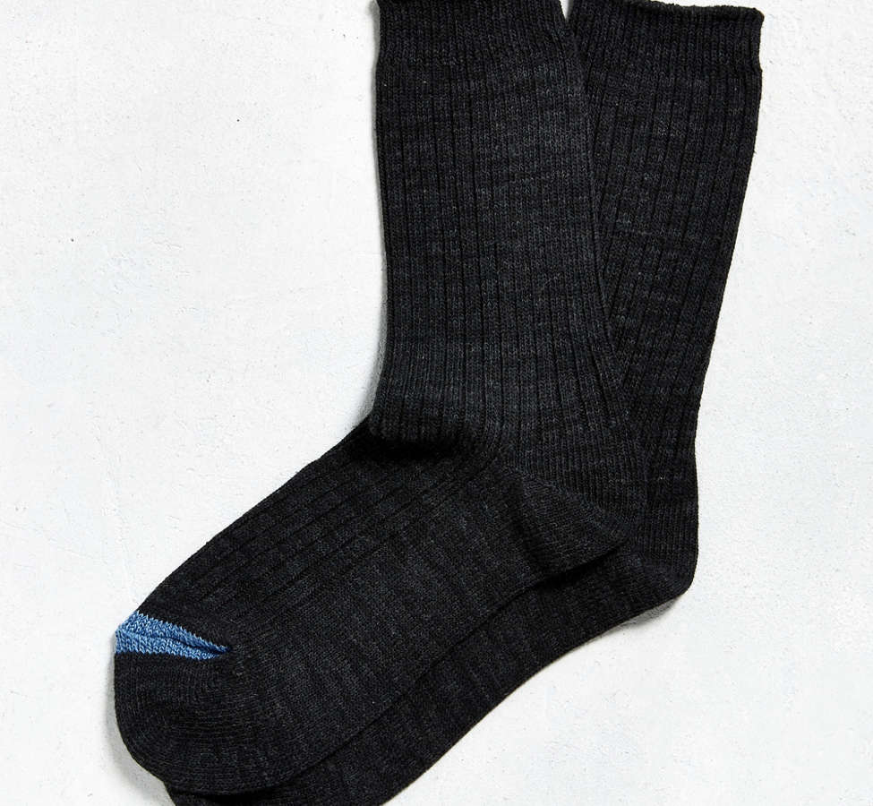 Slide View: 1: Heathered Ribbed Sock
