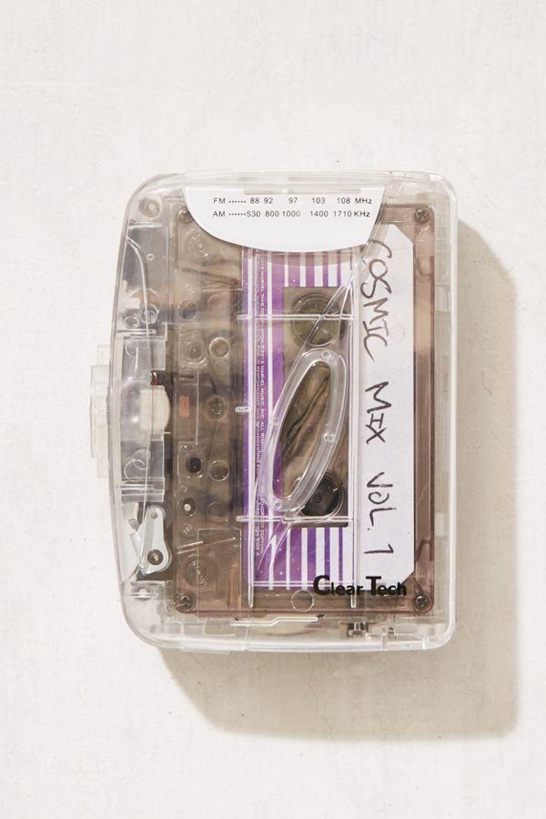 Clear Cassette Player Urban Outfitters