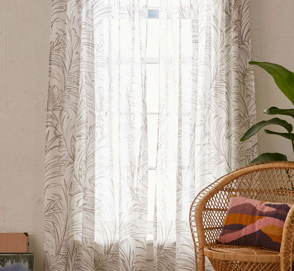 Slide View: 1: Edna Palm Curtain