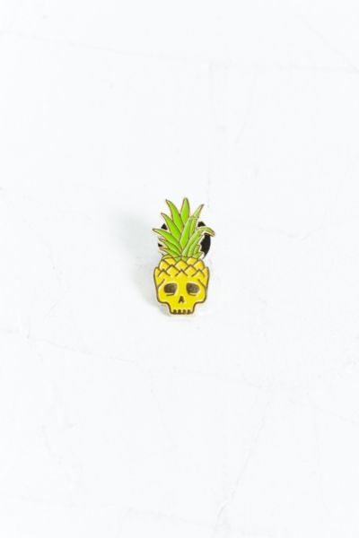 Mean Folk Pineapple Skull Pin