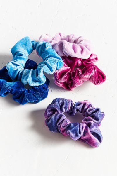 Velvet Hair Scrunchie Set Urban Outfitters