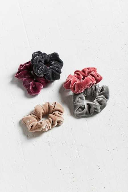 Velvet Hair Scrunchie Set