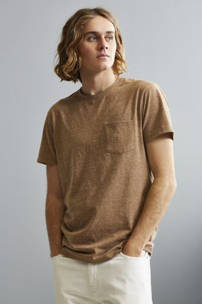 UO Galaxy Pocket Tee - Chocolate S at Urban Outfitters