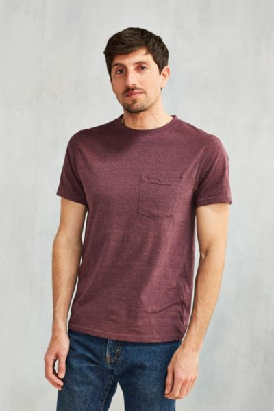 UO Galaxy Pocket Tee - Dark Purple S at Urban Outfitters