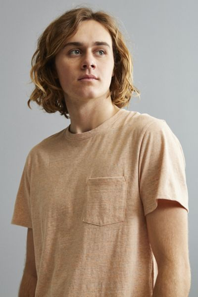 UO Galaxy Pocket Tee - Peach S at Urban Outfitters