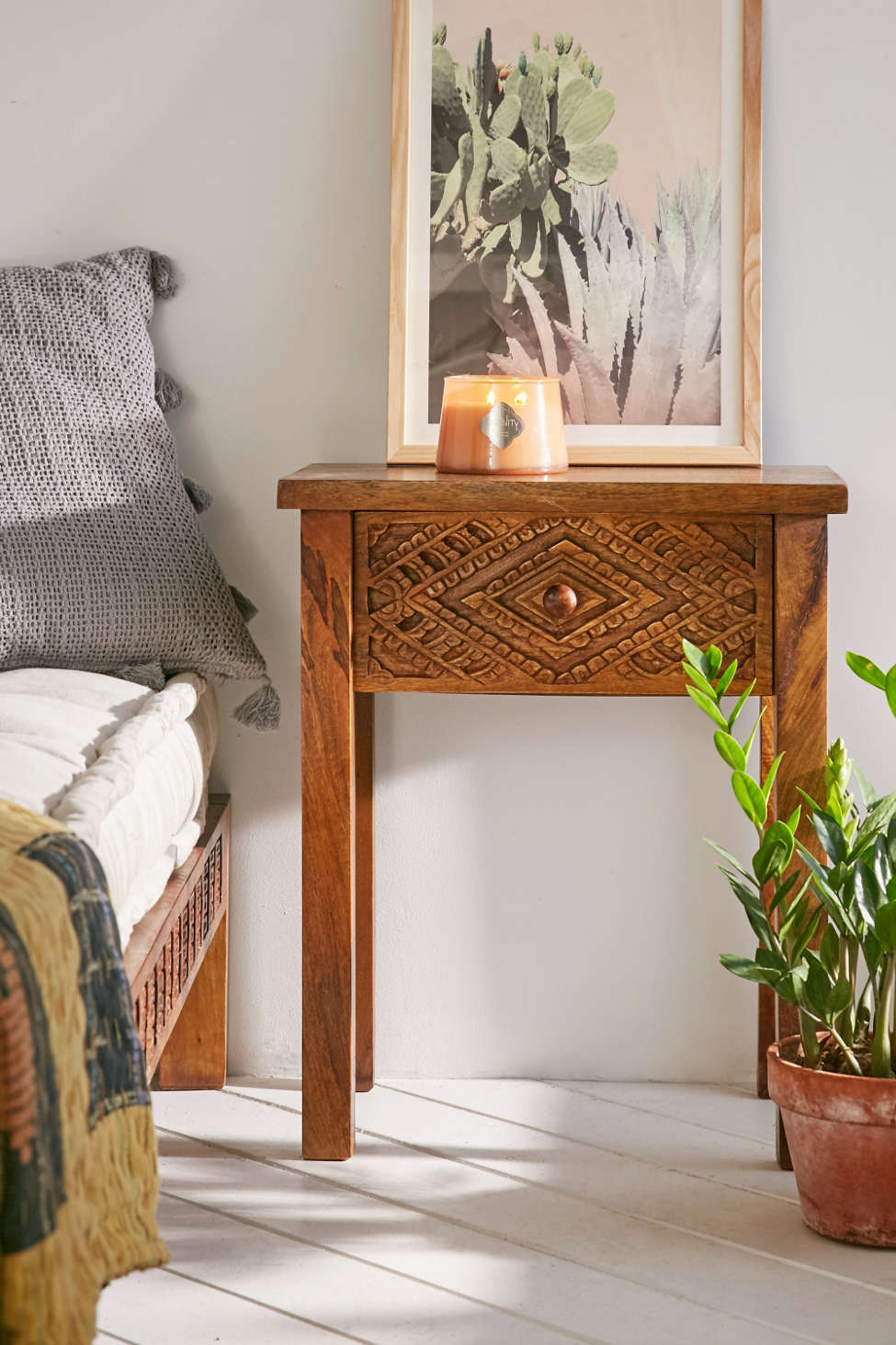 amira carved wood nightstand | urban outfitters Nightstand Images