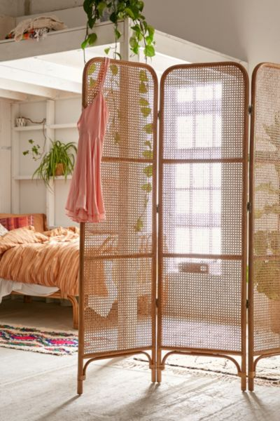 Rattan Screen Room Divider Urban Outfitters