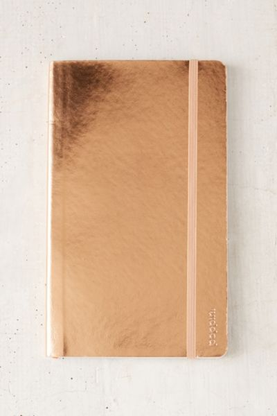 Poppin Medium Metallic Journal - Copper One Size at Urban Outfitters