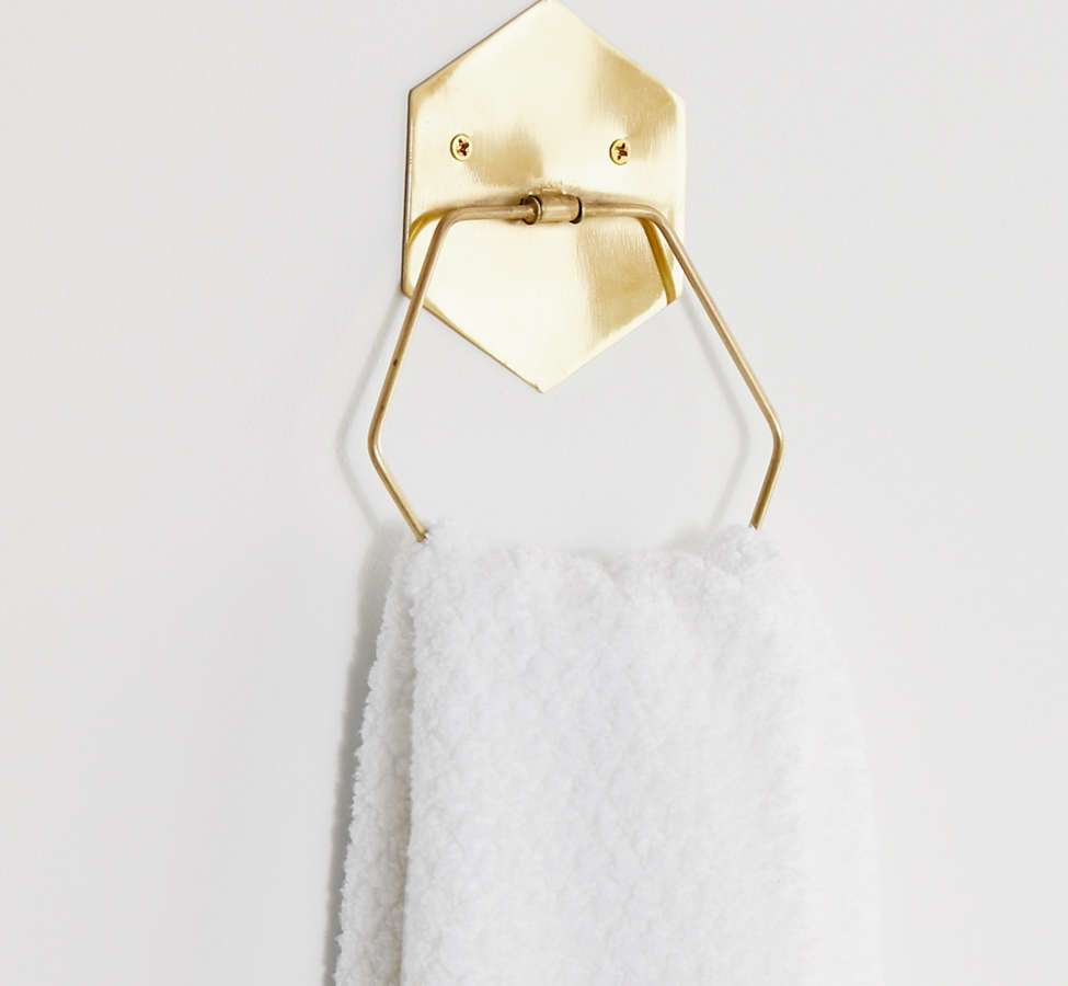 Slide View: 1: Hexagon Towel Ring