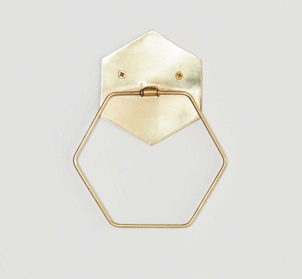Slide View: 2: Hexagon Towel Ring