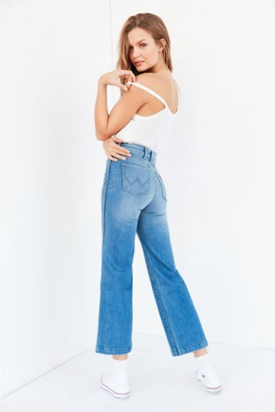 Wrangler Marfa High-Rise Cropped Flare Jean   Urban Outfitters