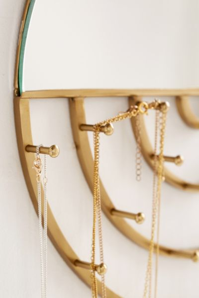 Aimee Jewelry Storage Hanging Mirror Urban Outfitters