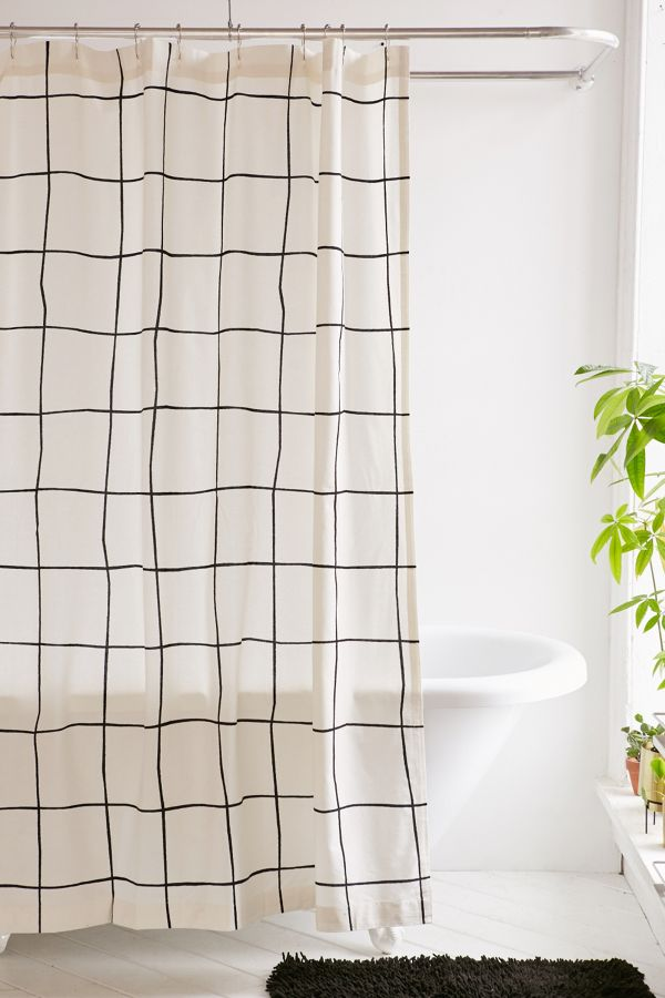Your Urban Outfitters Gallery Wonky Grid Shower Curtain