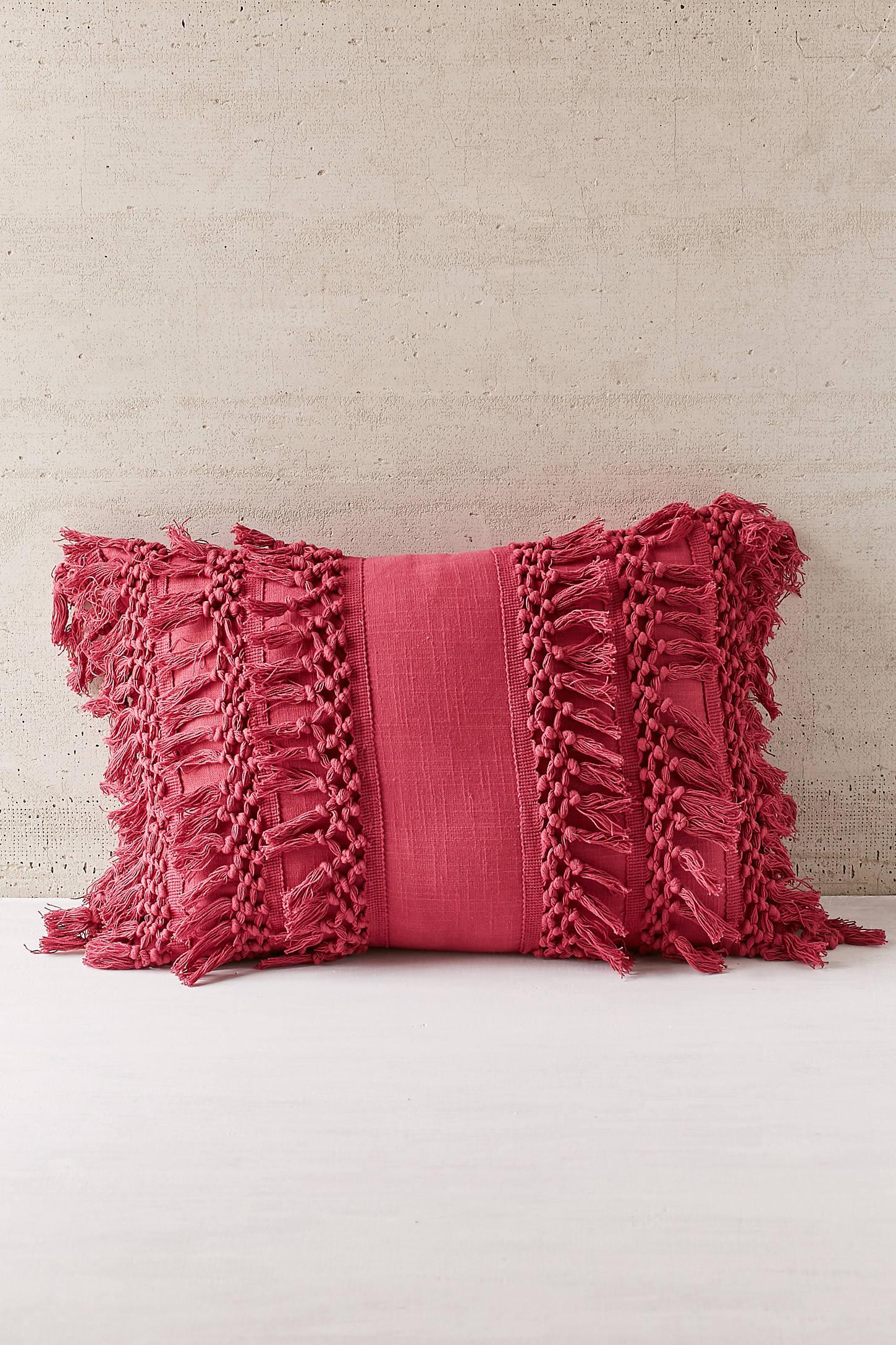 Venice Net Tassel Bolster Pillow Urban Outfitters