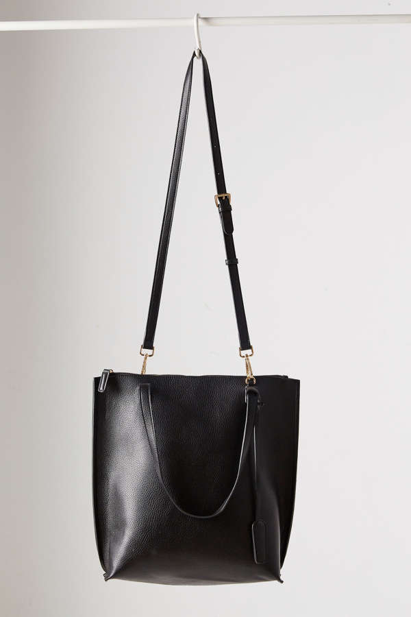 Silence   Noise Zip Pebbled Faux Leather Tote Bag | Urban Outfitters