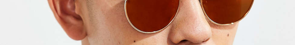Thumbnail View 2: Metal Flat Lens Round Sunglasses