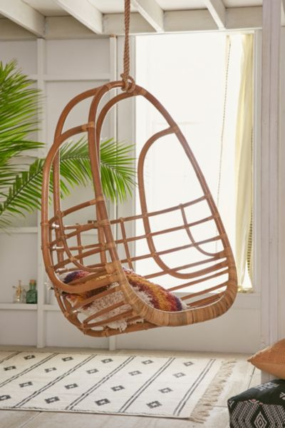 Tenley Rattan Swing Chair - Brown One Size at Urban Outfitters