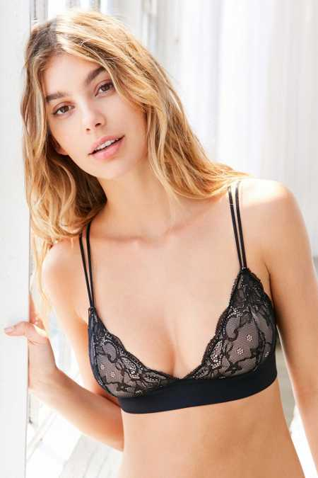 Out From Under Adele Fusion Lace Triangle Bra